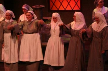 Here's me as a the nursing sister in Suor Angelica